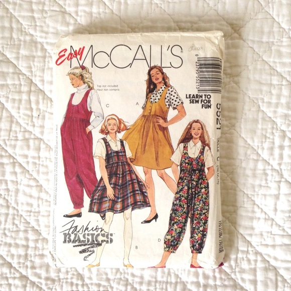 Vintage Pinafore/ Overall Sewing Pattern (Size 12)